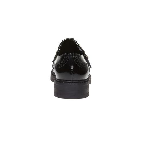 Scarpe da donna verniciate in stile Kiltie Oxford bata, nero, 518-6249 - 17