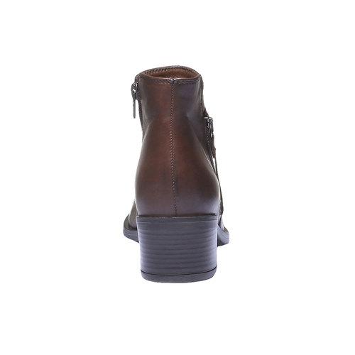 Scarpe di pelle alla caviglia bata, marrone, 694-4166 - 17