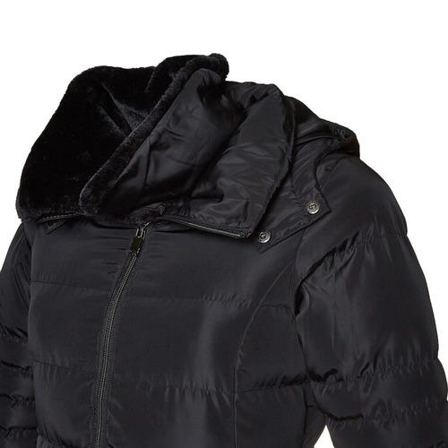 Giacca da donna con colletto in pelliccia bata, nero, 979-6649 - 16