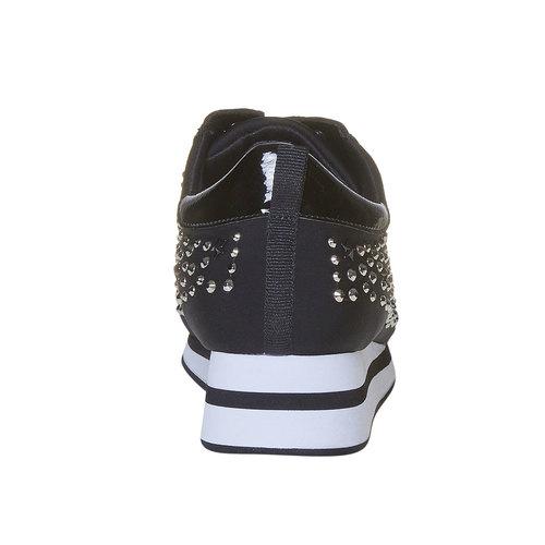 Sneakers da donna con plateau north-star, nero, 549-6139 - 17