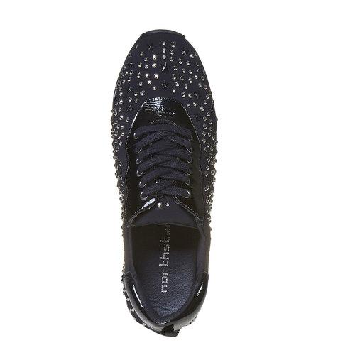 Sneakers da donna con plateau north-star, nero, 549-6139 - 19