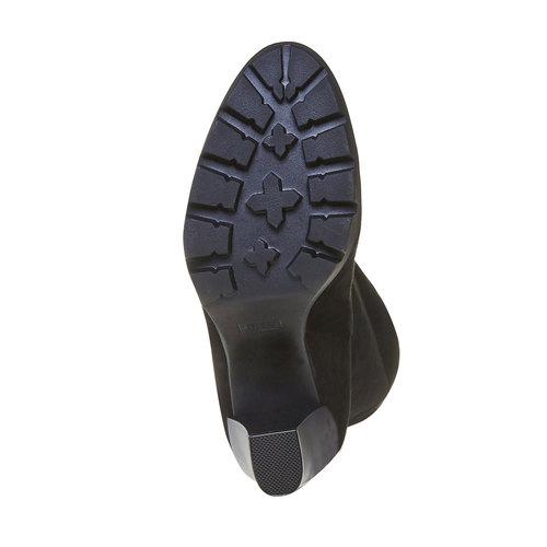 Stivali da donna con suola strutturata bata, nero, 799-6632 - 26