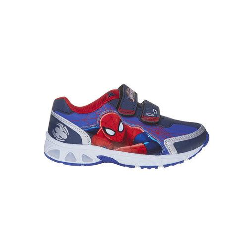 Sneakers da bambino con chiusure a velcro spiderman, viola, 311-9230 - 15