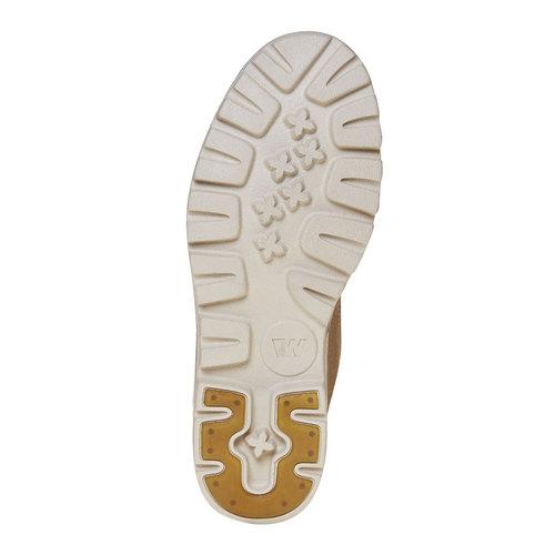 Scarpe da donna in pelle alla caviglia weinbrenner, beige, 594-8323 - 26