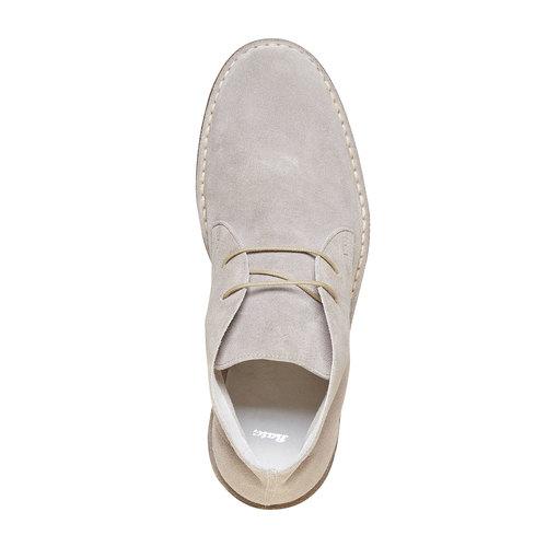 Scarpe scamosciate in stile Desert bata, grigio, 843-2267 - 19