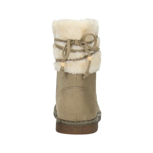 Scarpe invernali da bambino con pelliccia mini-b, marrone, 399-8247 - 17