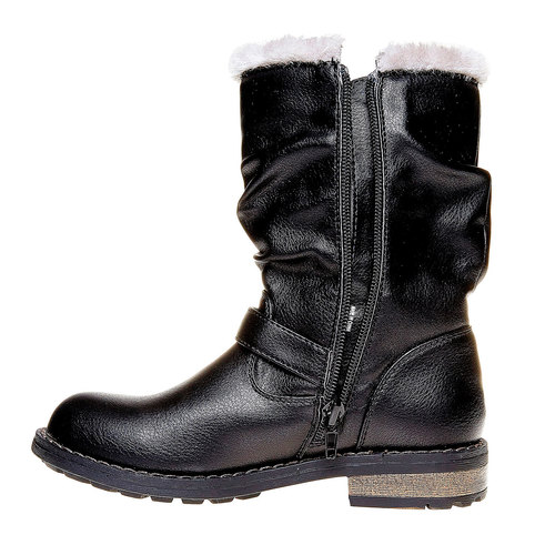 Stivali invernali da bambina mini-b, nero, 391-6245 - 19