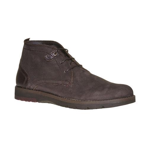 Scarpe di pelle alla caviglia bata, marrone, 894-4630 - 13
