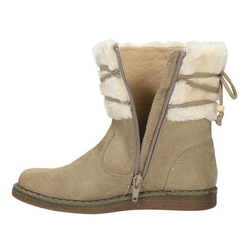 Scarpe invernali da bambino con pelliccia mini-b, marrone, 399-8247 - 19