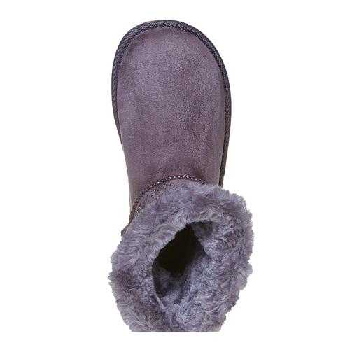 Stivali Valenki da bambina con pelliccia mini-b, grigio, 399-2302 - 19