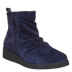 Scarpe in pelle da donna alla caviglia flexible, blu, 593-9577 - 13