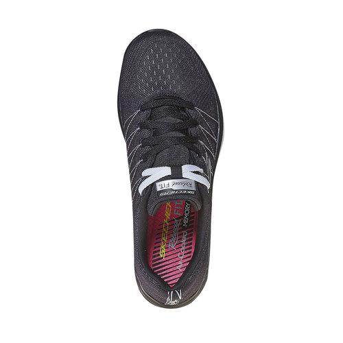 Sneakers da donna con cuciture skechers, nero, 509-6353 - 19