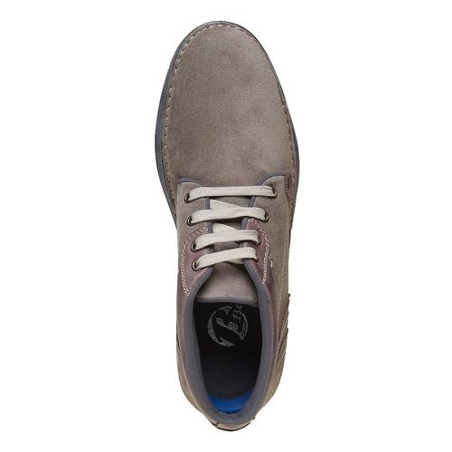 Scarpe di pelle alla caviglia bata, marrone, 843-4688 - 19