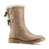 Scarpe invernali da donna con fiocco bata, grigio, 599-2994 - 13