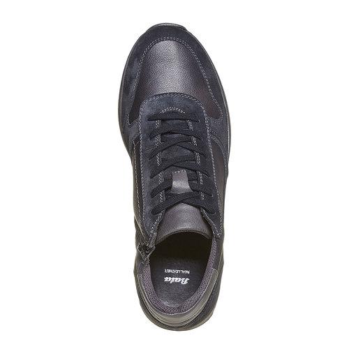 Sneakers da uomo in pelle bata, nero, 894-6697 - 19