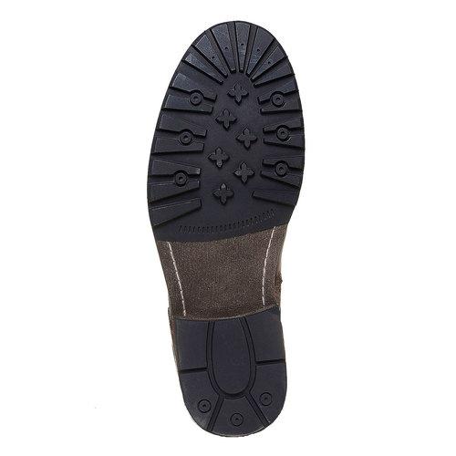 Scarpe di pelle alla caviglia bata, marrone, 894-4518 - 26