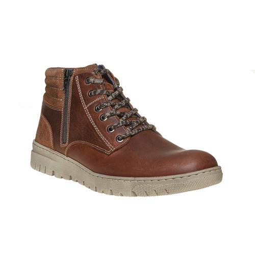 Scarpe di pelle alla caviglia bata, marrone, 844-3689 - 13