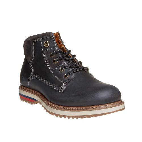 Scarpe in pelle alla caviglia weinbrenner, nero, 894-6403 - 13