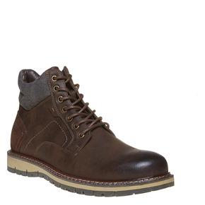 Scarpe da uomo alla caviglia, marrone, 891-4529 - 13
