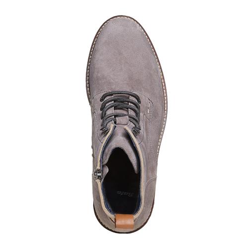 Scarpe da uomo in pelle bata, grigio, 893-2357 - 19