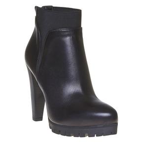 Stivaletti da donna in pelle alla caviglia bata, nero, 794-6596 - 13