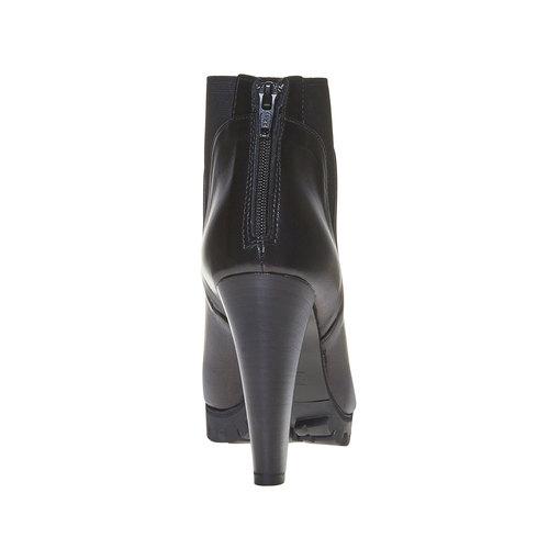 Stivaletti da donna in pelle alla caviglia bata, nero, 794-6596 - 17