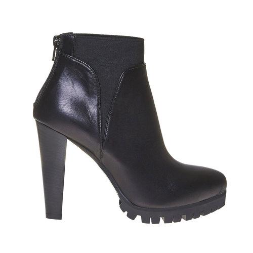 Stivaletti da donna in pelle alla caviglia bata, nero, 794-6596 - 15