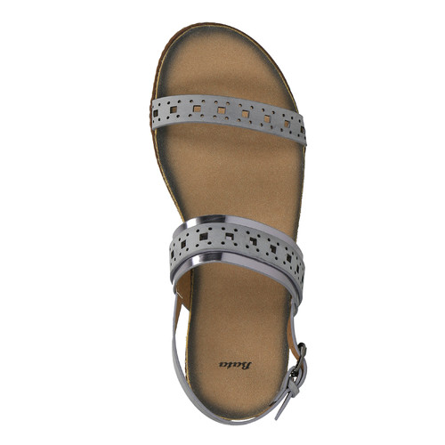 Sandali da donna bata, grigio, 561-2294 - 19
