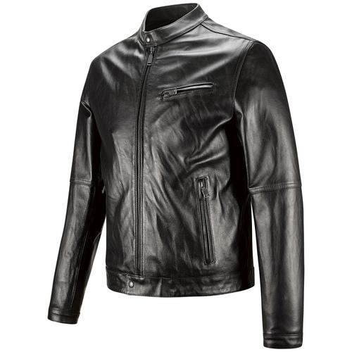 Giacca uomo in pelle con cuciture eleganti bata, nero, 974-6142 - 16