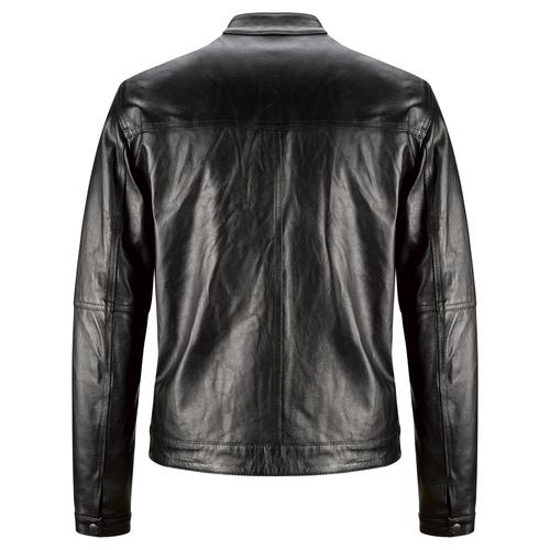 Giacca uomo in pelle con cuciture eleganti bata, nero, 974-6142 - 26