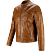 Giacca in pelle con cuciture eleganti bata, marrone, 974-3142 - 16