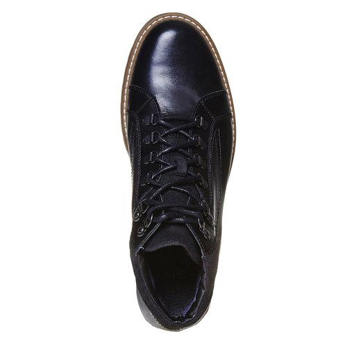 Scarpe di pelle alla caviglia bata, nero, 894-6561 - 19