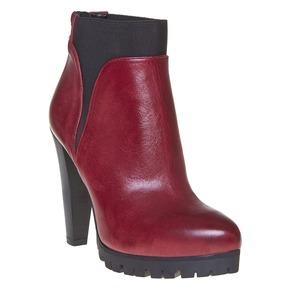 Stivaletti da donna alla caviglia bata, rosso, 794-5596 - 13