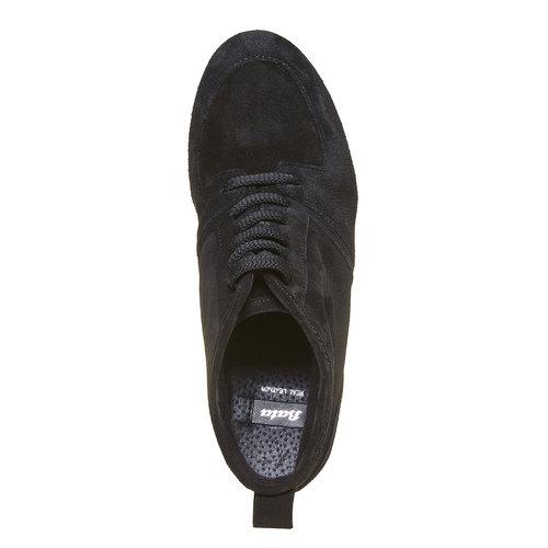 Sneakers di pelle con zeppa bata, nero, 723-6828 - 19