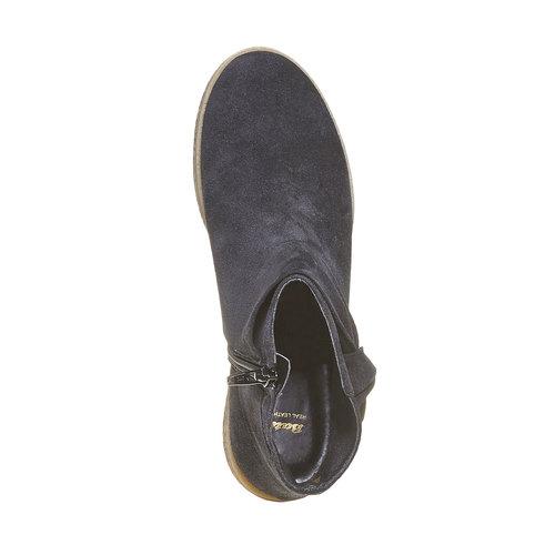 Stivali da donna in pelle bata, nero, 593-6115 - 19