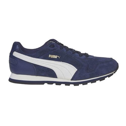 Sneakers da uomo in pelle puma, blu, 803-9311 - 15