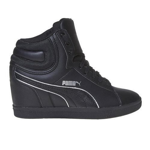 Sneakers da donna alla caviglia puma, nero, 501-6319 - 15