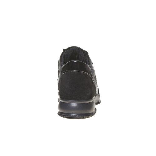 Sneakers in pelle da donna con strass bata, nero, 523-6578 - 17