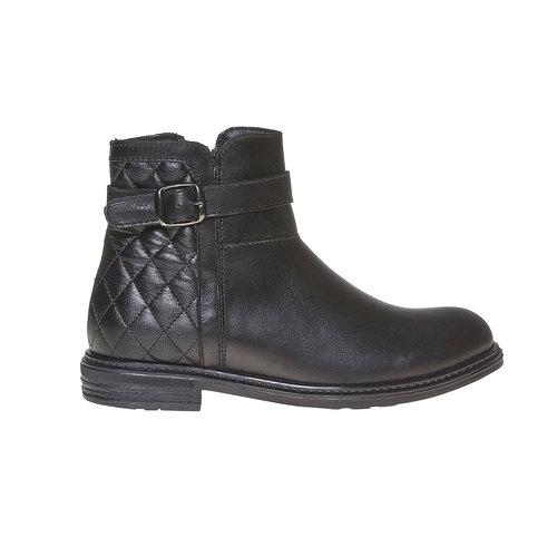 Stivaletti in pelle alla caviglia con cuciture mini-b, nero, 394-6233 - 15