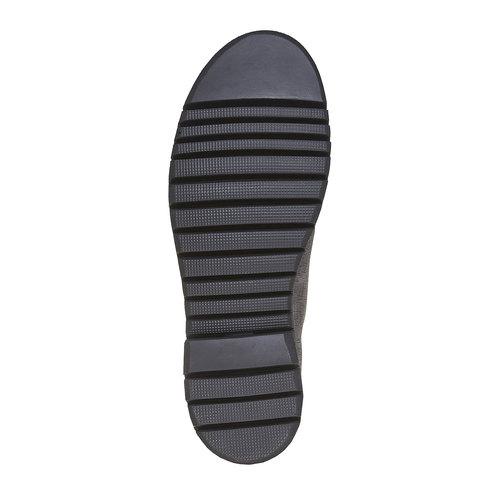 Scarpe in pelle alla caviglia bata, grigio, 894-2519 - 26