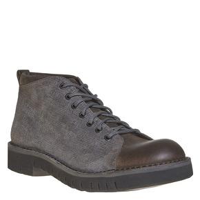 Scarpe in pelle alla caviglia bata, grigio, 894-2519 - 13