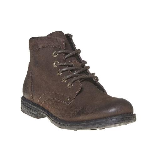 Scarpe di pelle sopra la caviglia da uomo bata, marrone, 896-4704 - 13