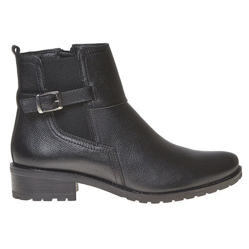 Stivaletti in pelle alla caviglia bata, nero, 594-6558 - 15