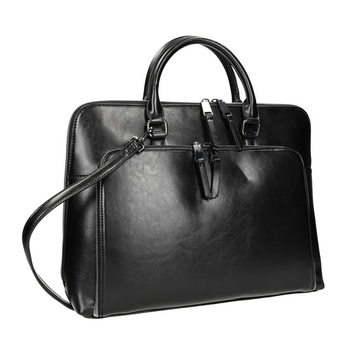 Elegante borsa a mano bata, nero, 961-6882 - 13