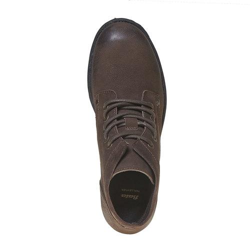 Scarpe di pelle sopra la caviglia da uomo bata, marrone, 896-4704 - 19