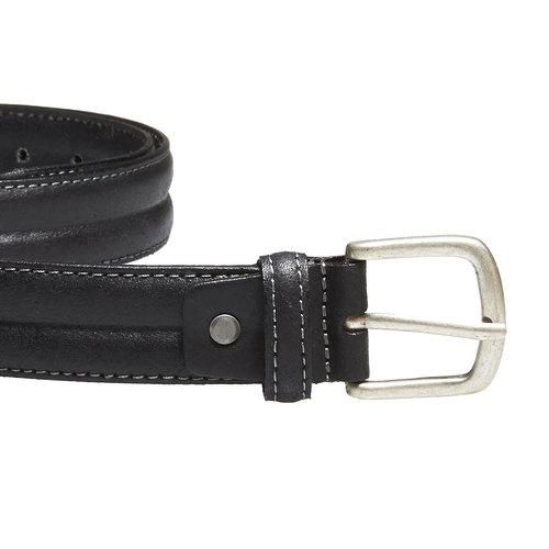 Cintura da uomo in pelle bata, nero, 954-6128 - 26
