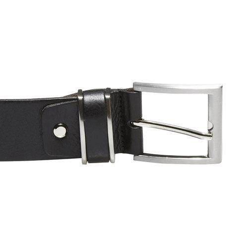 Cintura da uomo in pelle bata, nero, 954-6130 - 26