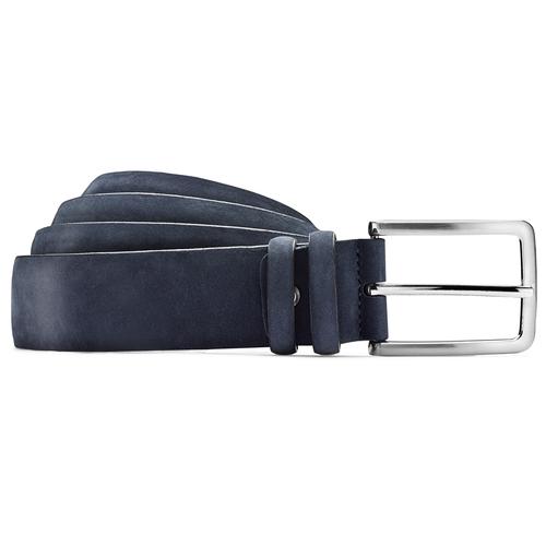 Cintura da uomo in pelle bata, blu, 954-9120 - 13