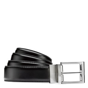 Cintura da uomo in pelle bata, nero, 954-6122 - 13