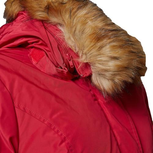 Parka donna con cappuccio e eco-fur bata, rosso, 979-5648 - 16